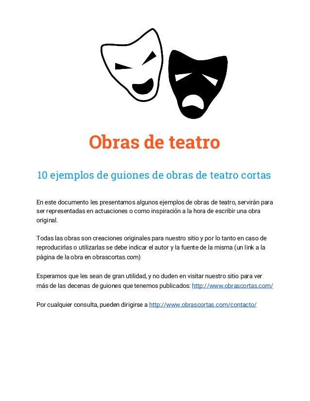 10 guiones de obras de teatro cortas (ejemplos gratis)