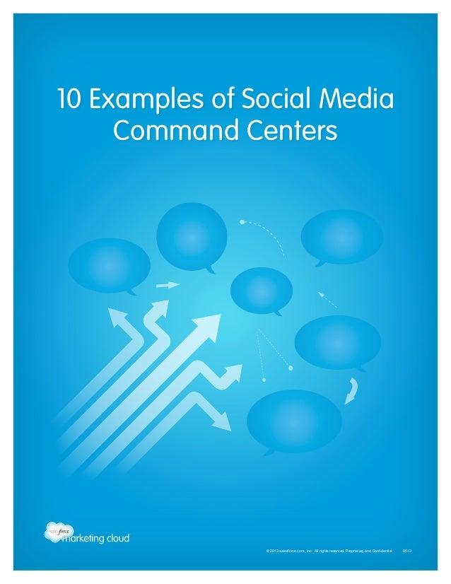 10 Examples of Social Media Command Centers  © 2013 salesforce.com, inc. All rights reserved. Proprietary and Confidential...