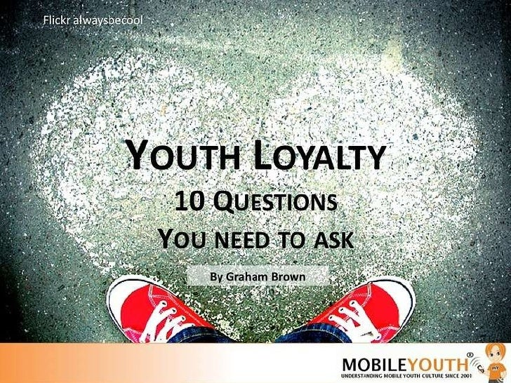 Mobile Youth Loyalty Report 2011 presentation by Graham Brown For more information on this research go to  http://www.mobi...