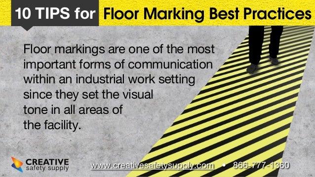 10 Floor Marking Tips Slide 2