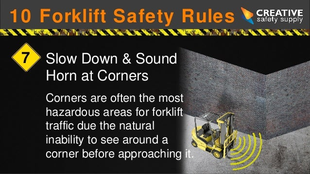 10 forklift safety rules a review