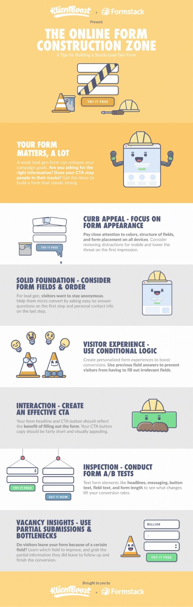 KlientBoost and Formstack Present: Landing Page Form [infographic]