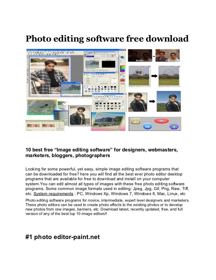 10 free best photo editing software download Free photo editing programs