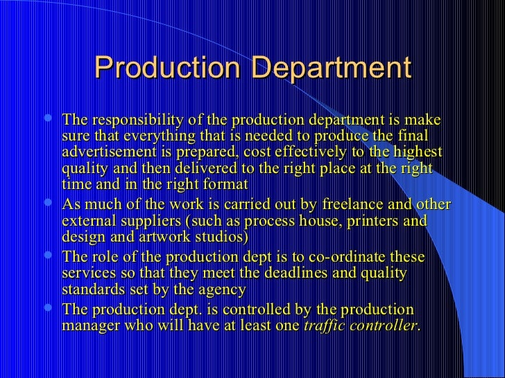 production department jobs
