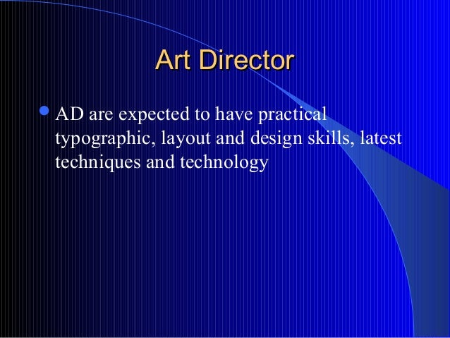 10 function of dept in ad agency