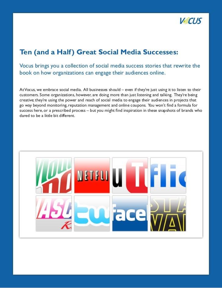 Ten (and a Half) Great Social Media Successes