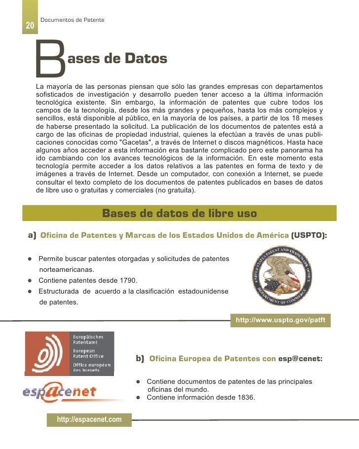 10 gu a de documentos de patente como fuente de innovaci n for Oficina europea de patentes