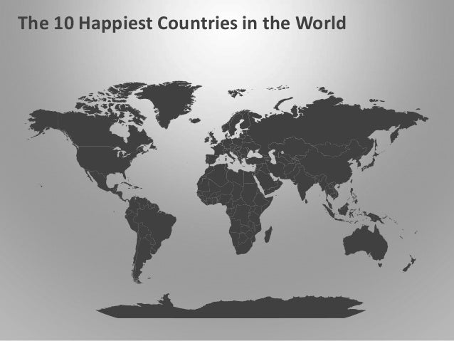 Powerpoint world map of the white map background for powerpoint 10 happiest countries world map animated powerpoint slides on map background for powerpoint gumiabroncs Choice Image