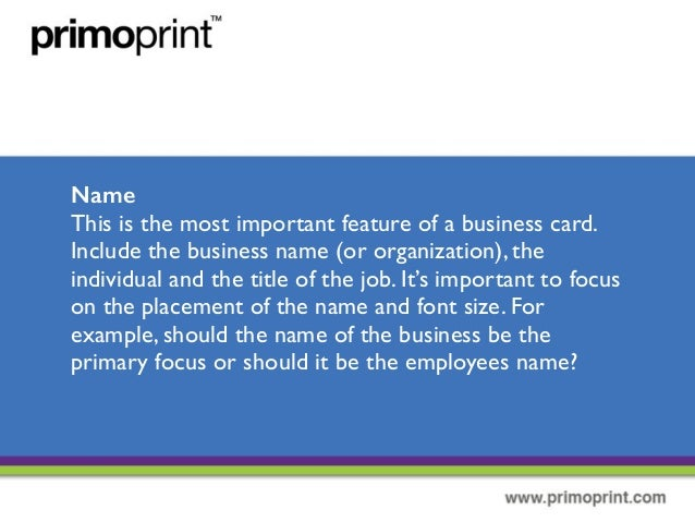 10 important elemets of a business card for Importance of business cards