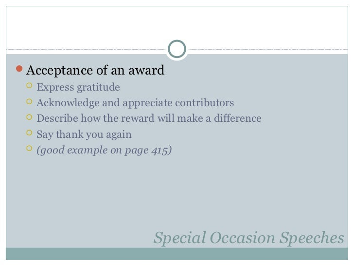 10. inform persuade group special occasion