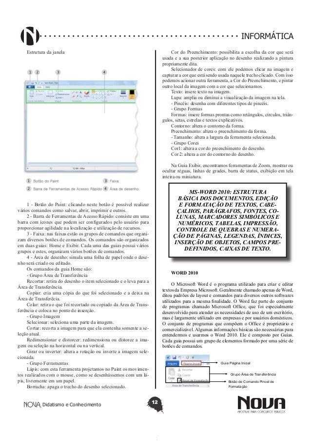 Guia Página Inicial Grupo Área de Transferência Botão de Comando Pincel de  Formatação  14. b48e183999
