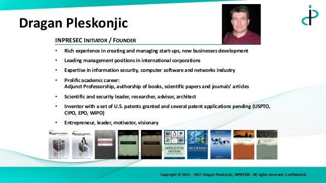 Developers' mDay 2017. -  Dragan Pleskonjić, Adjunct Professor Slide 2