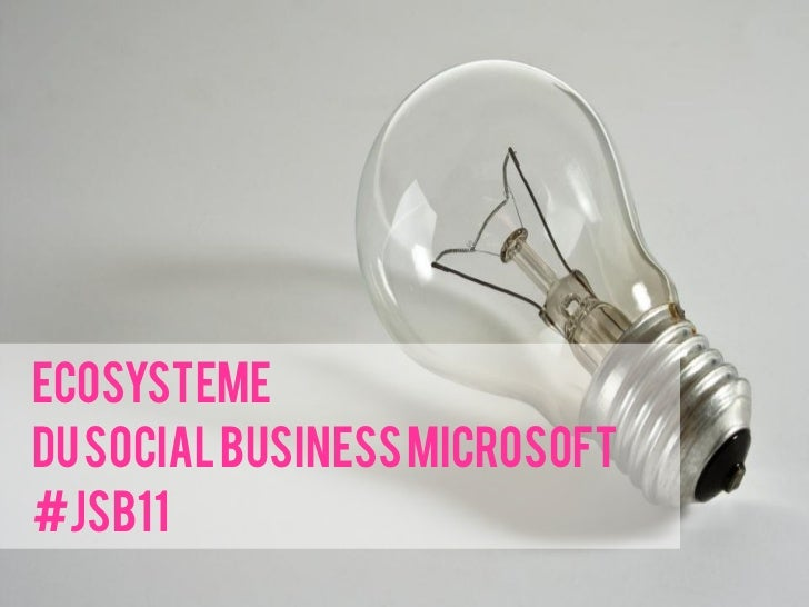 Ecosystemedu Social Business Microsoft#JSB11