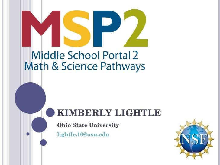 KIMBERLY LIGHTLE Ohio State University [email_address]