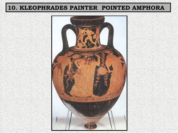 10. KLEOPHRADES PAINTER  POINTED AMPHORA