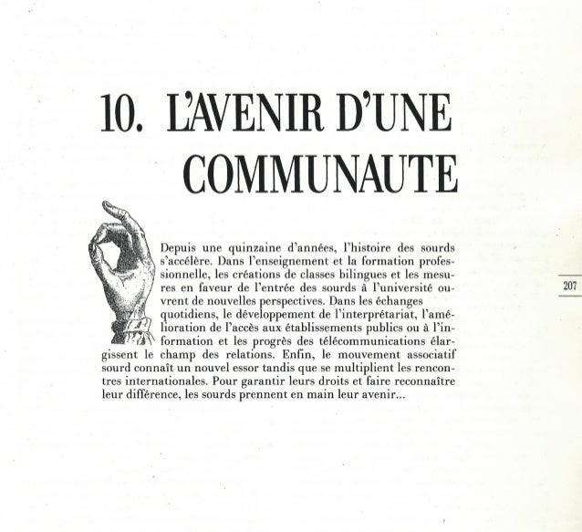 10 - L'avenir d'une communauté