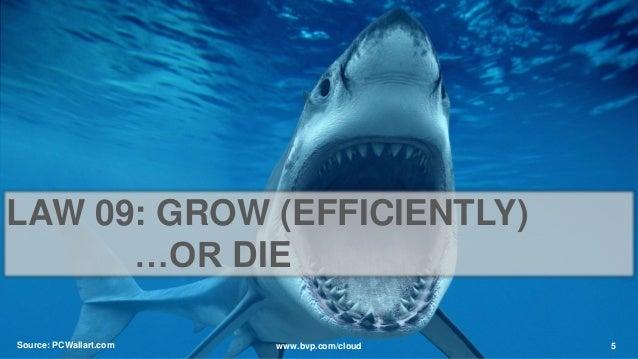 Source: PCWallart.com 5www.bvp.com/cloud LAW 09: GROW (EFFICIENTLY) …OR DIE
