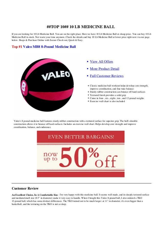 10 Lb Medicine Ball