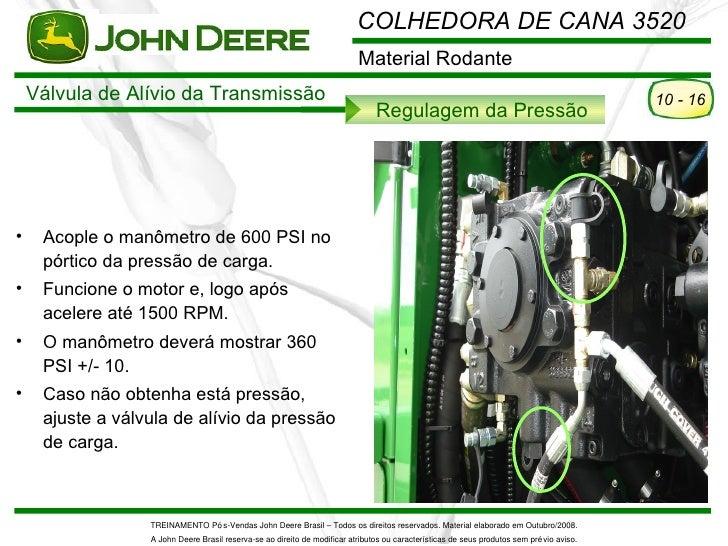 COLHEDORA DE CANA 3520                                                                           Material Rodante    Válvu...