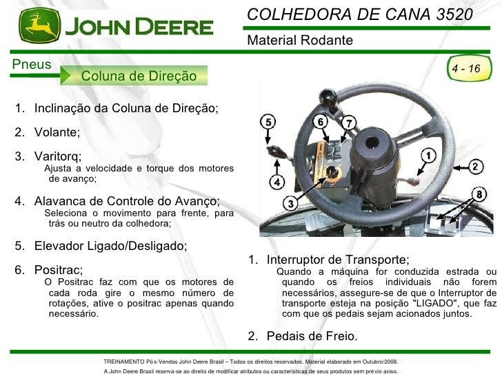 COLHEDORA DE CANA 3520                                                                          Material RodantePneus     ...