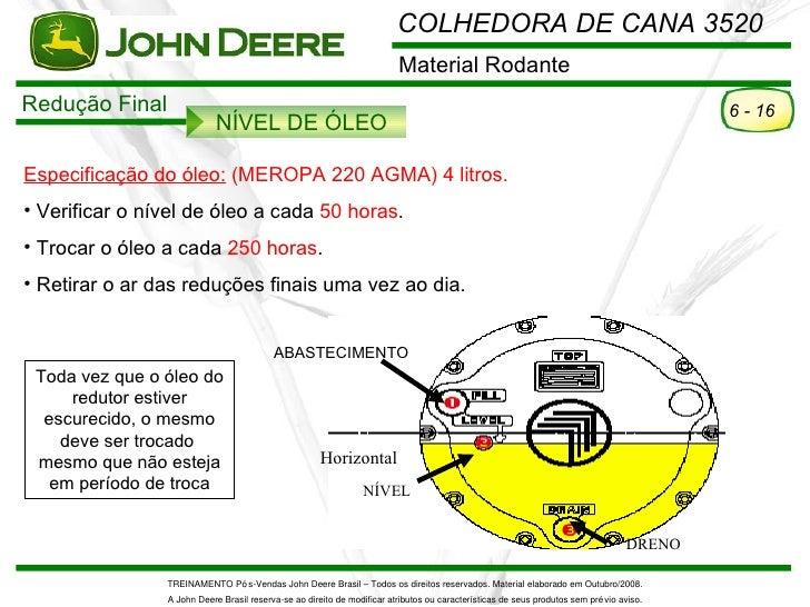 COLHEDORA DE CANA 3520                                                                         Material RodanteRedução Fin...