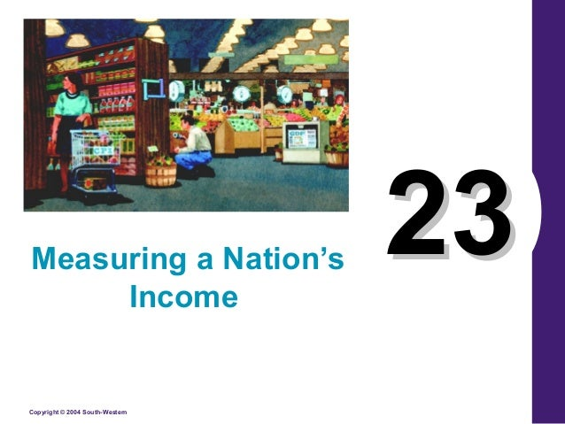 measuring a nation's income Measuring us gdp the national income and product accounts divide incomes into five categories compensation of employees net interest rental income corporate profits proprietors' income the sum of these five income components is net domestic income at factor cost.