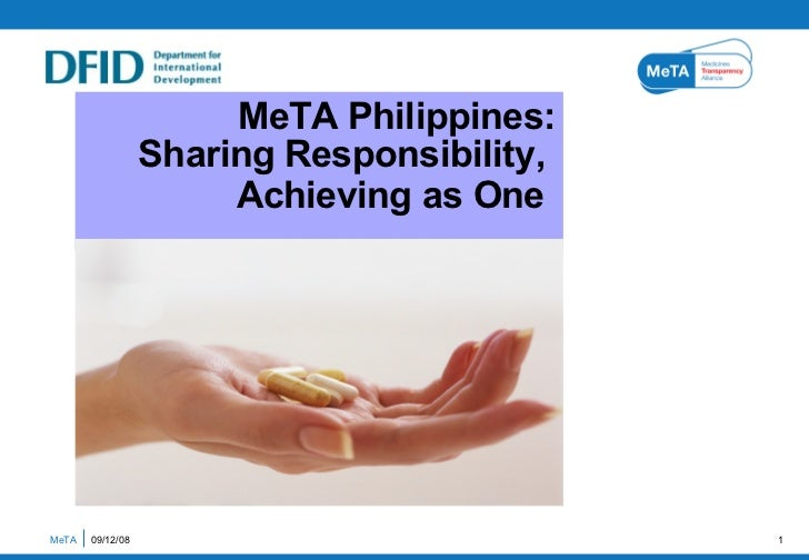 MeTA Philippines: Sharing Responsibility,  Achieving as One   MeTA  06/04/09