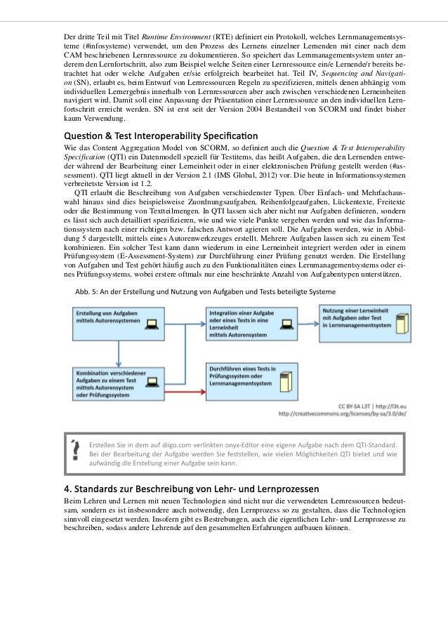 Learning Design (IMS Global, 2013) ist ein ebenfalls von der IMS festgeschriebener umfassender Standard zur Beschreibung v...