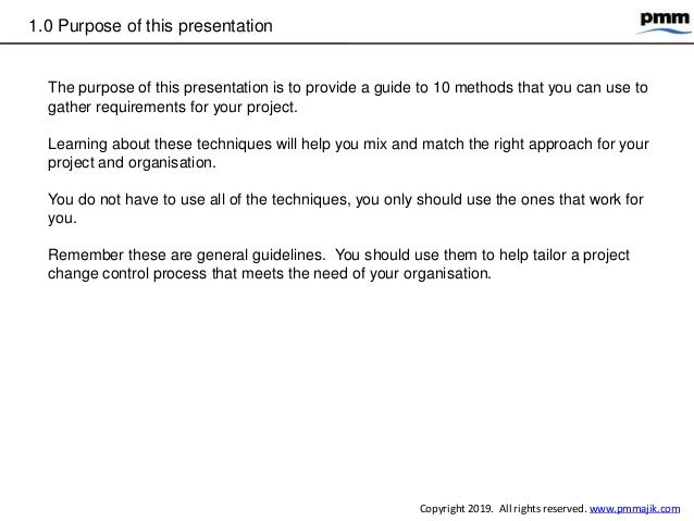 10 methods gather project requirements Slide 3