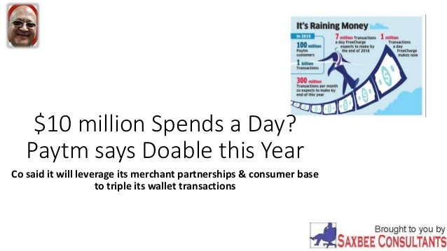 $10 million Spends a Day? Paytm says Doable this Year Co said it will leverage its merchant partnerships & consumer base t...