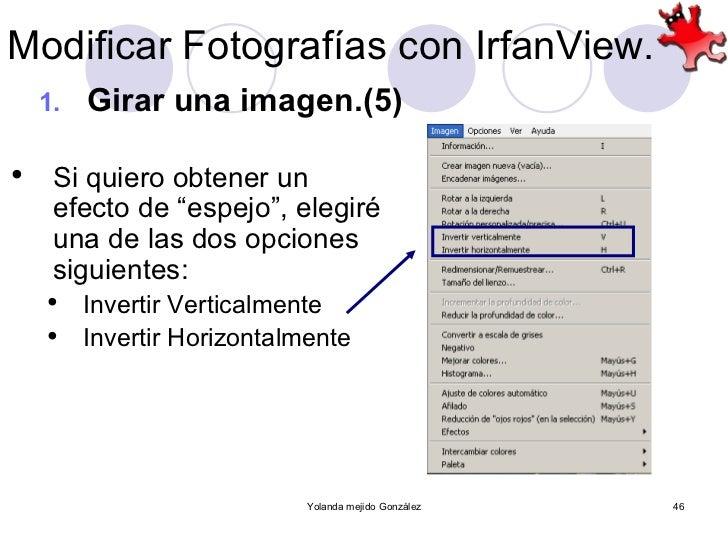 Modificaci n sencilla de fotograf as con irfan view for Invertir imagen espejo