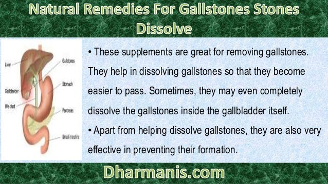 Natural Remedies For Gallstones And Kidney Stones