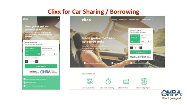 Clixx for Car Sharing / Borrowing