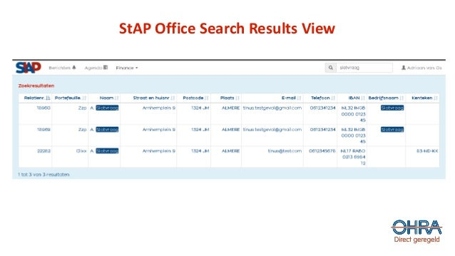 StAP Office Search Results View