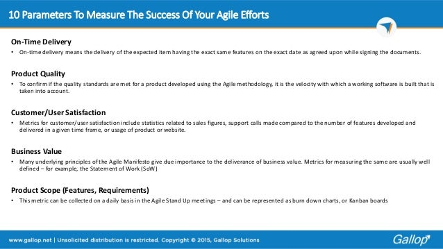 How do you evaluate success?