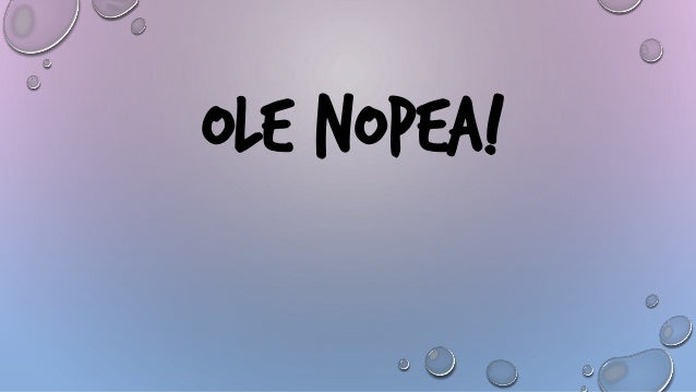 OLE NOPEA!