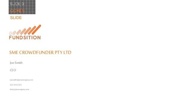 FUNDSITION - 10 Part Investor Presentation Outline Slide 3