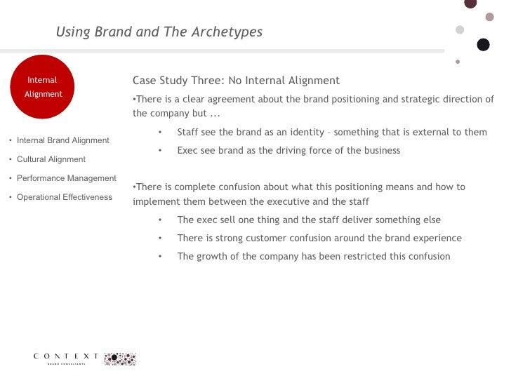 Using Brand and The Archetypes <ul><li>Case Study Three: No Internal Alignment  </li></ul><ul><li>There is a clear agreeme...