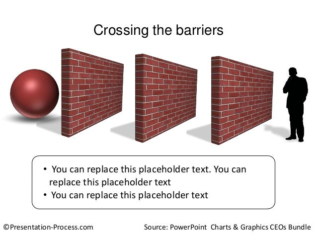Crossing the barriers  • You can replace this placeholder text. You can replace this placeholder text • You can replace th...