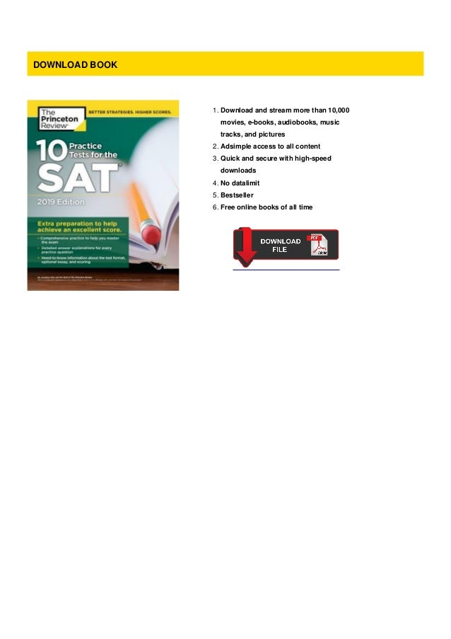 Pdf 10 Practice Tests For The Sat 2019 Edition Extra Preparation