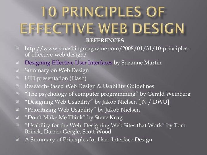 10 Principles Of Effective Web Design