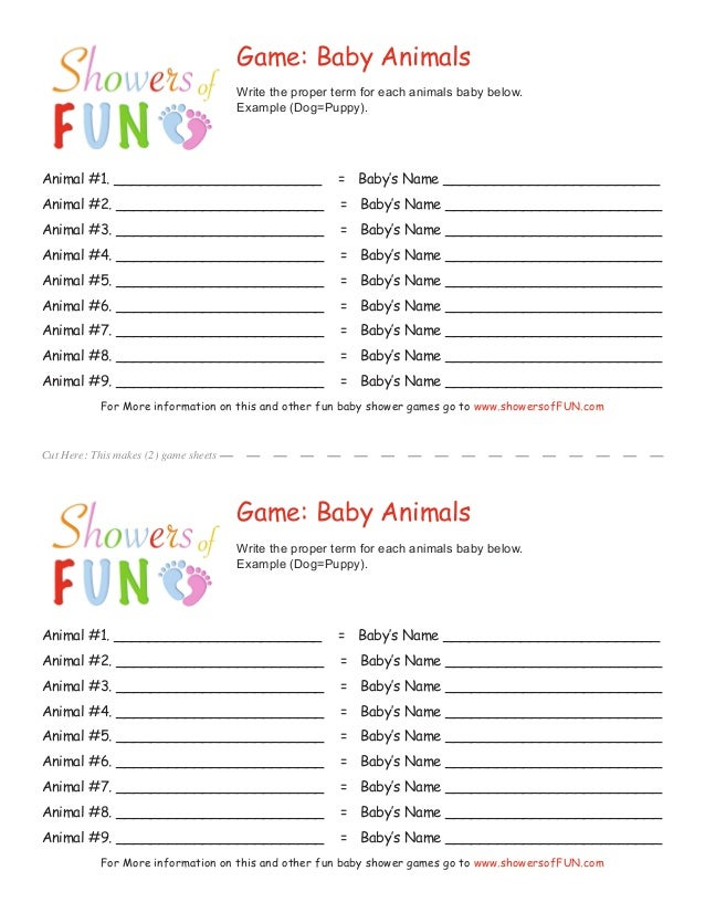 ... Free Printable Baby Shower Games Available At; 2.