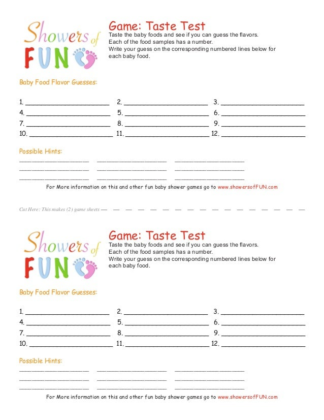 photo regarding Guess the Baby Food Game Free Printable identified as Free of charge Printable Child Shower Video game Sheets