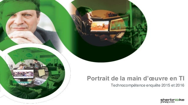 Portrait de la main d'œuvre en TI Technocompétence enquête 2015 et 2016