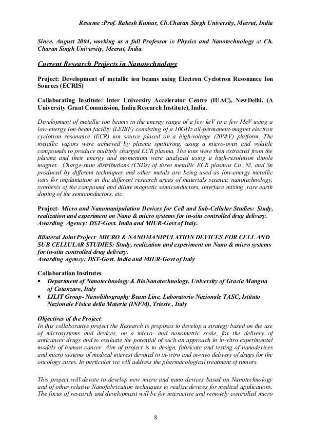 Exelent Nanoengineering Resume Images - Best Resume Examples by ...