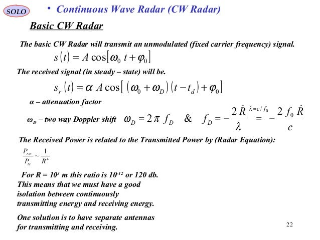10 Range And Doppler Measurements In Radar Systems on two way radio wave signal