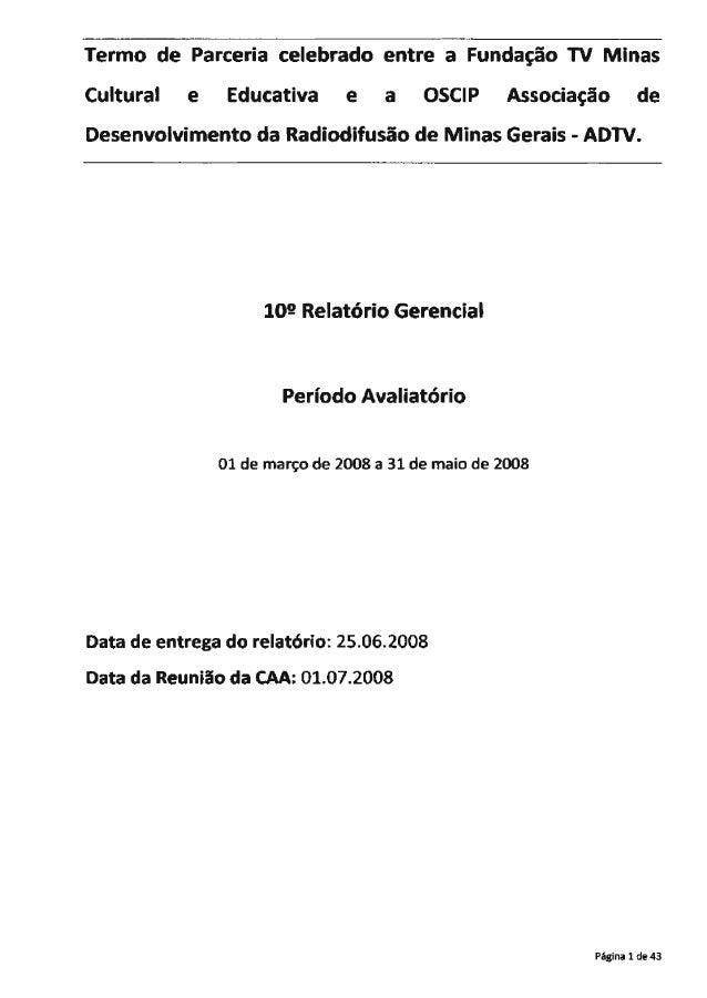 Termo tie Parceria Icelebrado entre a FundaI; ';'io TV i++iin: as Cultural e Ec! uI: ativa e a OSCIP fzssoctagao de  Desen...