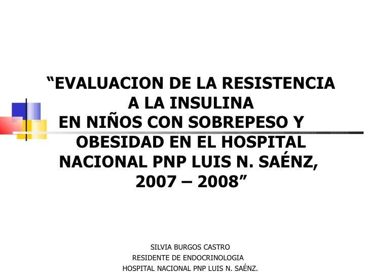 Resistencia a Insulina en Niños con Obesidad