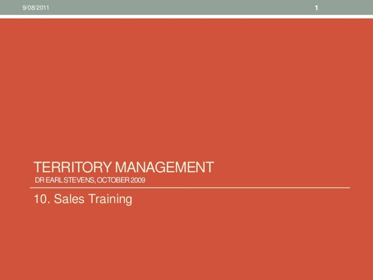 10. sales training territory management