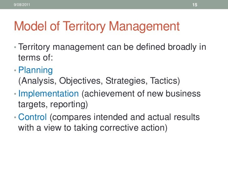 10 sales training territory management for Sales territory plan template